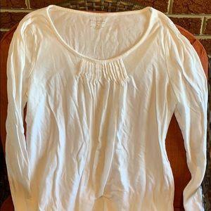 Soft white long sleeve Sonoma shirt